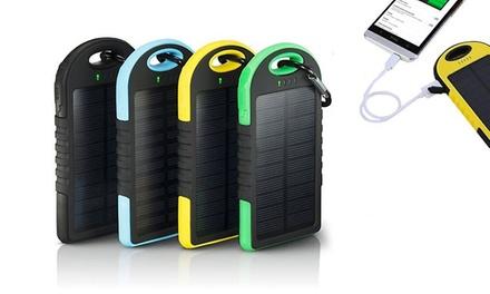 Powerbank con pannello solare da 5000 mAh disponibile in 4 colori