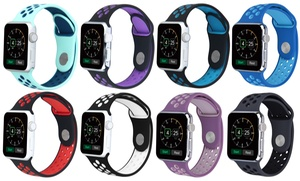 image for Breathable Silicone Sport Band for Apple Watch Series 1, 2, 3, & Sport