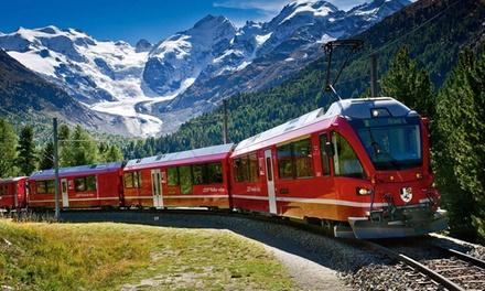 Bernina Express: Bus A/R e biglietto per il Trenino Rosso da Tirano diretto a Saint Moritz per adulti o ragazzi