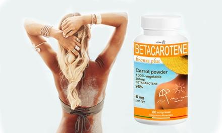 Fino a 360 compresse di Betacarotene Bronze Plus Lineadiet per prolungare e mantenere labbronzatura