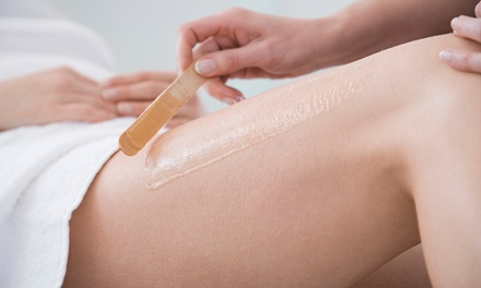 One, Two or Five Sessions of Full Body Wax Including The Lower Body Plus Full Face Threading at Rene Beauty Salon