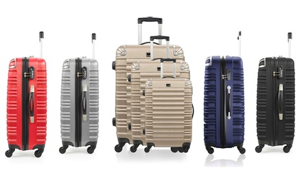 Set di 3 trolley Bluestar Lima con bilancia pesa valigie disponibili in vari colori