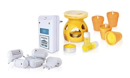 Kit anti zanzare e anti insetti Riddex con candele aromatiche