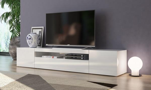 meuble tv a led 3 portes daiquiri 200 cm