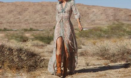 Vestito lungo da donna Boho disponibile in 4 taglie