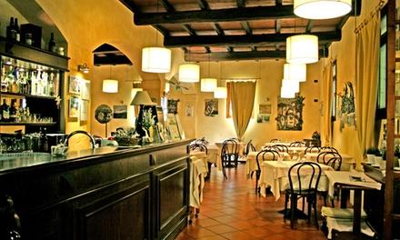 Menu degustazione con calice o bottiglia di vino al ristorante Ca Vecchia di Sasso Marconi (sconto fino a 71%)