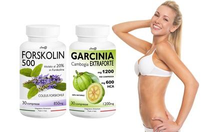 Kit bruciagrassi: fino a 120 compresse di Garcinia Extraforte e Forskolin 500