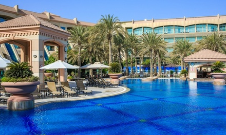 Abu Dhabi: 1 2 Nights for 2 Adults and 2 Children with Choice of Meals and Optional Treatment at 5* Al Raha Beach Hotel