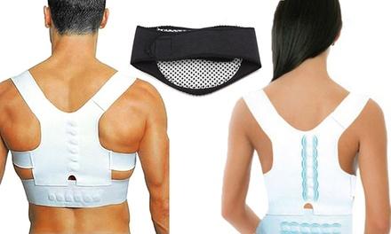 Fasce posturali a 12 magneti disponibili in 2 taglie e fasce riscaldanti per il collo con spedizione gratuita