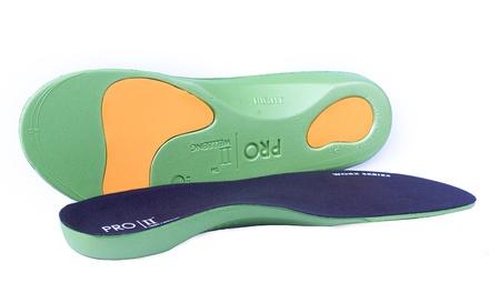 Fino a 4 paia di solette ortopediche Pro11 Wellbeing Worx per correzione di fascite plantare e piedi piatti