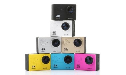 Action Wi Fi Sport Cam 4K Ultra HD in vari colori e con Micro SD e accessori opzionali