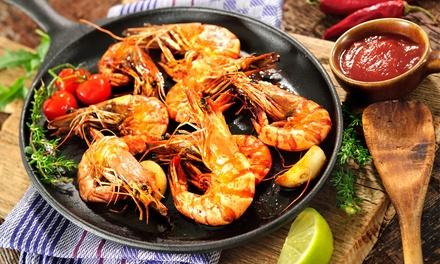 Menu di pesce da 4 portate con bottiglia di vino per 2 o 4 persone al ristorante LOstepizza (sconto fino a 71%)