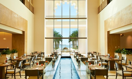 Weekend Lunch or Weekday Dinner with Drinks for Up to Four at Flow Kitchen at 5* Fairmont The Palm (31% Off*)