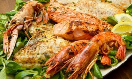 Degustazione di mare con calici di vino per 2 o 4 persone al Ristorante Gambero Rosso Agrigento (sconto fino a 58%)