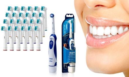 1 ou 2 brosses à dents électrique à pile et/ou têtes de remplacement Oral B