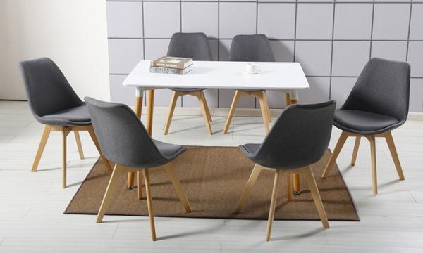 lot de 1 2 4 ou 6 chaises scandinaves tissu livs