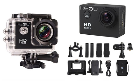 Kequ HD 1080p Water Resistant Action Camera