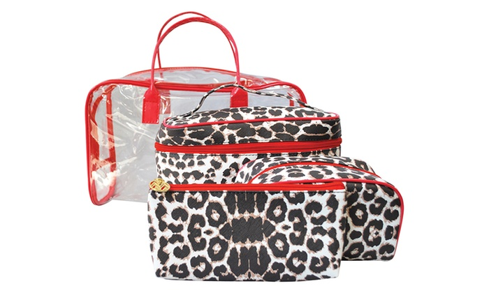 Leopard Print Cosmetic Bags Sets