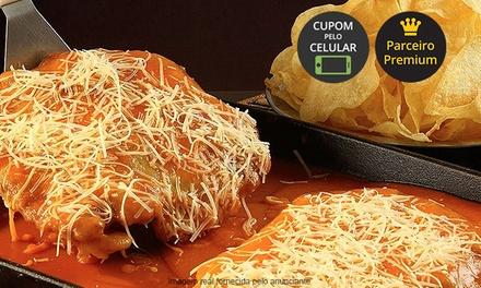 Bar do Alemão – Anália Franco: parmegiana de filé mignon, frango ou berinjela com batata chips para 2 pessoas