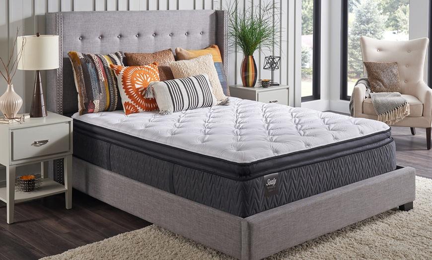 sealy titanium 14 plush pillowtop mattress set free white glove delivery