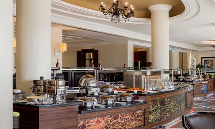 Lunch or Dinner Buffet and Choice of Beverages for Up to Four at La Terrazza at 5* Radisson Blu Corniche (Up to 57% Off)