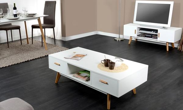 meuble tv et ou table basse scandinave
