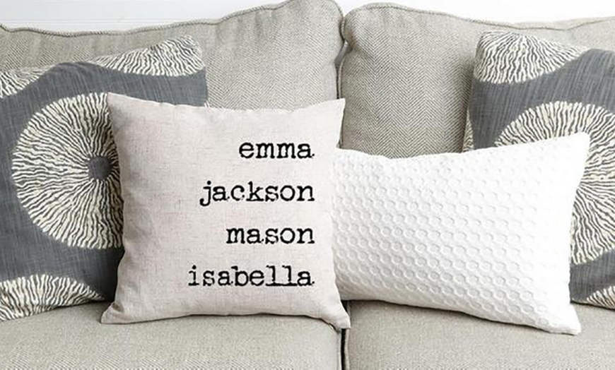 one or two personalized family name throw pillow covers from qualtry up to 80 off