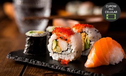 Rodízio de comida japonesa + sobremesa 1, 2 ou 4 pessoas no Kasaki Sushi Bar – Jardim América