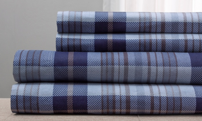 clearance wexley home 100 cotton flannel sheet set