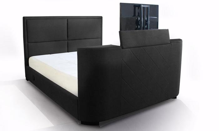 lit avec support tv integre