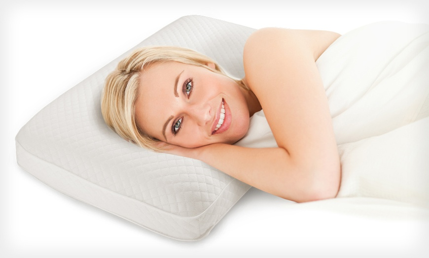2 pack of soft tex deluxe memory foam pillows in jumbo or king up to 56 off free shipping