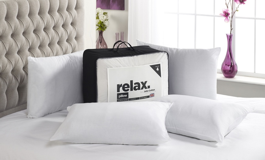 relax four pack of hollowfibre pillow