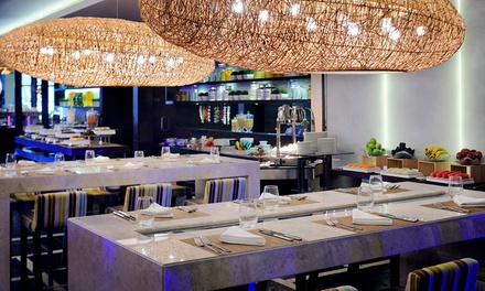 Thursday Seafood Buffet with Drinks for One or Two at The Market Place at Marriott Hotel Al Jaddaf (Up to 38% Off)