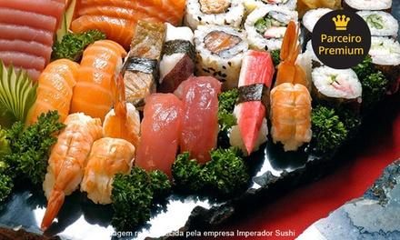 Imperador Sushi – São Bernardo: rodízio japonês especial à vontade + sobremesa para 1 ou 2 pessoas