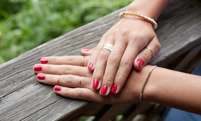 34 For Full Set Of Sns Nails Or 55 Gel Manicure And Pedicure At Js