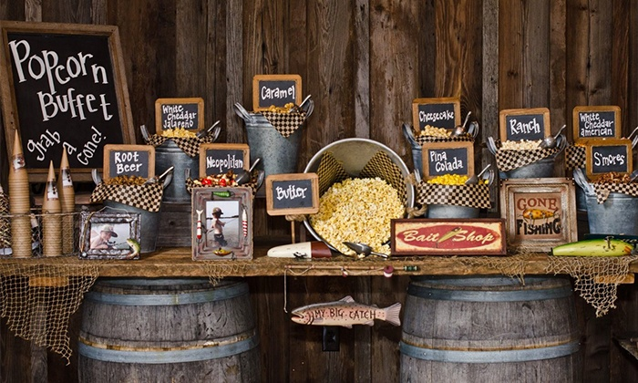 Catered Popcorn Buffet Popping Bar Groupon
