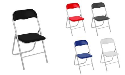 Set di 4 sedie pieghevoli imbottite Lione disponibili in 5 colori ...