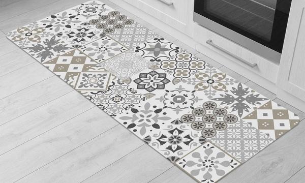 tapis de cuisine carreau de ciment de la marque douceur d interieur