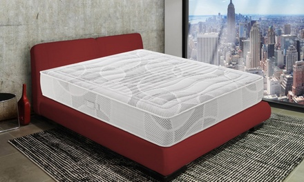 Materasso matrimoniale Materassi&Doghe Polifoam Memory 7 cm con 11 zone disponibile sfoderabile e non, varie dimensioni