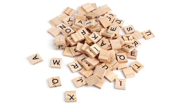 100 ou 200 lettres en bois pour jeu de scrabble