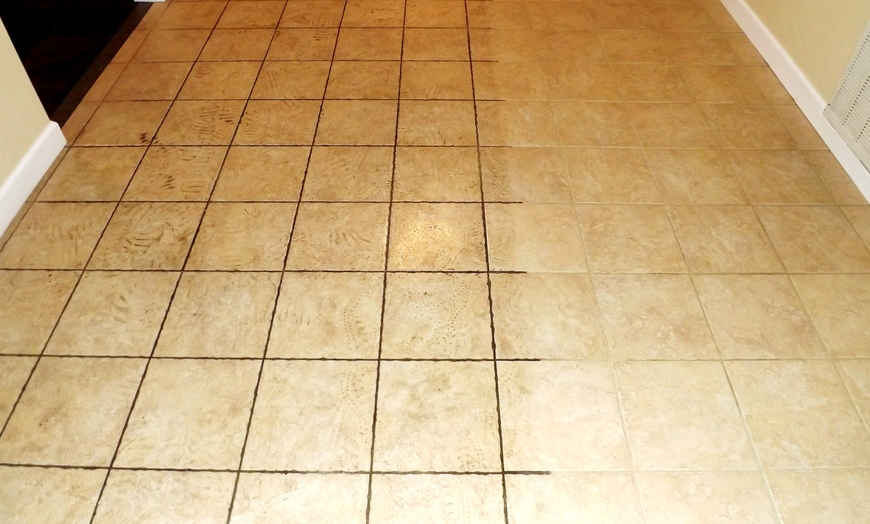149 for tile and grout cleaning for up to 300 square feet from apex carpet solutions 274 value