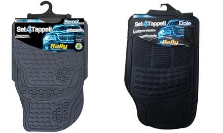 Set di 4 tappetini per auto Rally in gomma naturale disponibili in 2 modelli