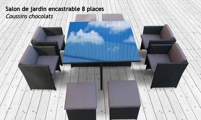 salon de jardin en resine tressee encastrable ou modulable 5 ou 8 places des 499 90 livraison offerte jusqu a 42