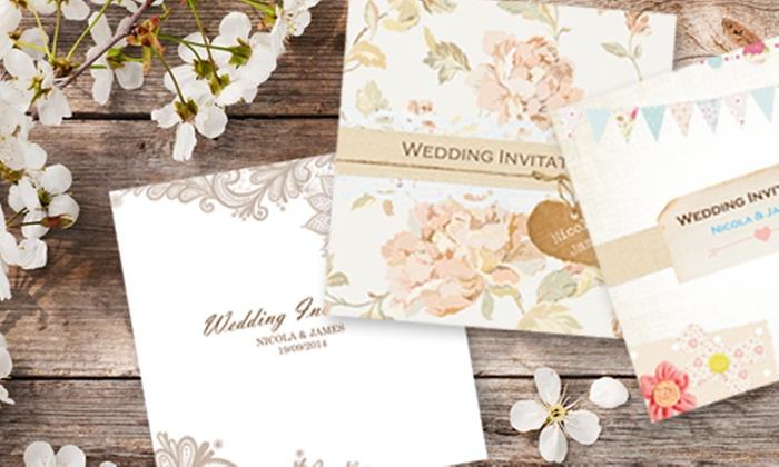The Card Gallery Uk Limited Personalised Wedding Invitations 20 16