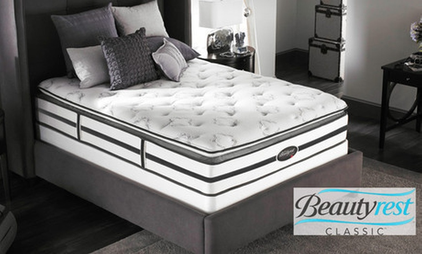 simmons beautyrest anacostia plush pillow top mattress up to 57 off five sizes available free white glove delivery