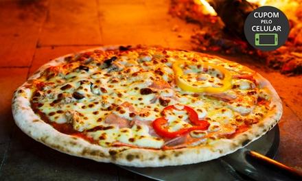 Pizza grande de 8 fatias na Brascatta Pizzaria   Vila Leopoldina