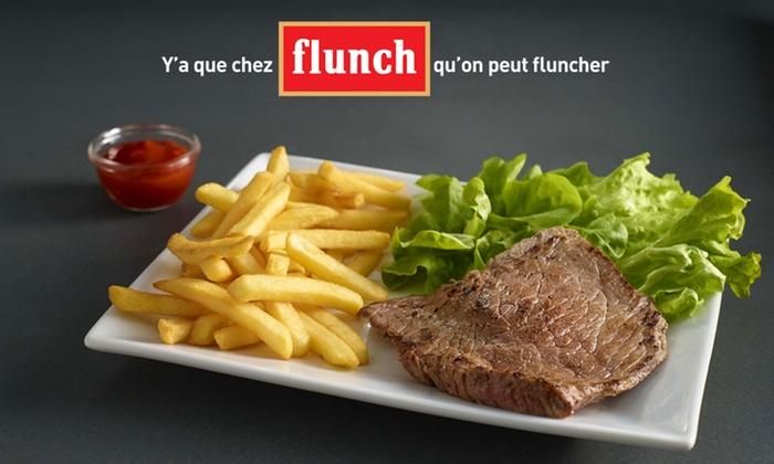 flunch - Plusieurs adresses: Chez Flunch, pour 1 € seulement, 10 € de réduction sur l'addition, midi et soir.*