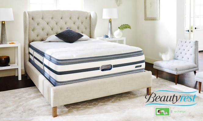 Simmons Beautyrest Recharge Plush Pillowtop Mattress Set Sunset Oaks