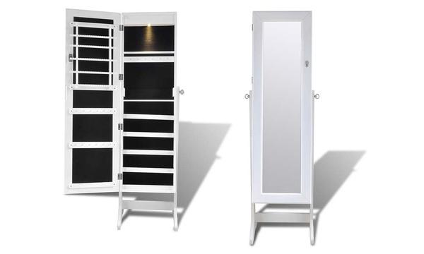 armoire a bijoux avec miroir integre avec ou sans led coloris au choix des 79 99