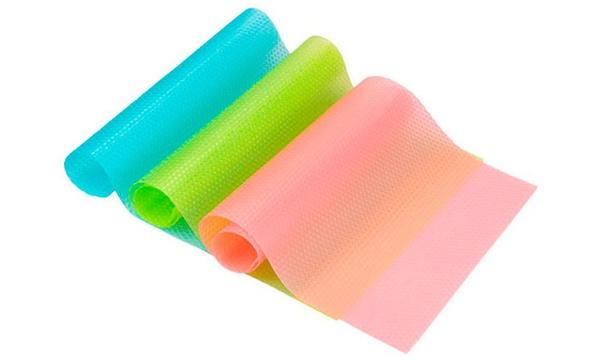 1 2 ou 3 lots de 3 tapis fraicheur pour refrigerateur anti bacteriens